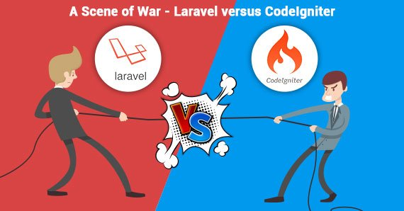 A Scene of War - Laravel versus CodeIgniter Blog